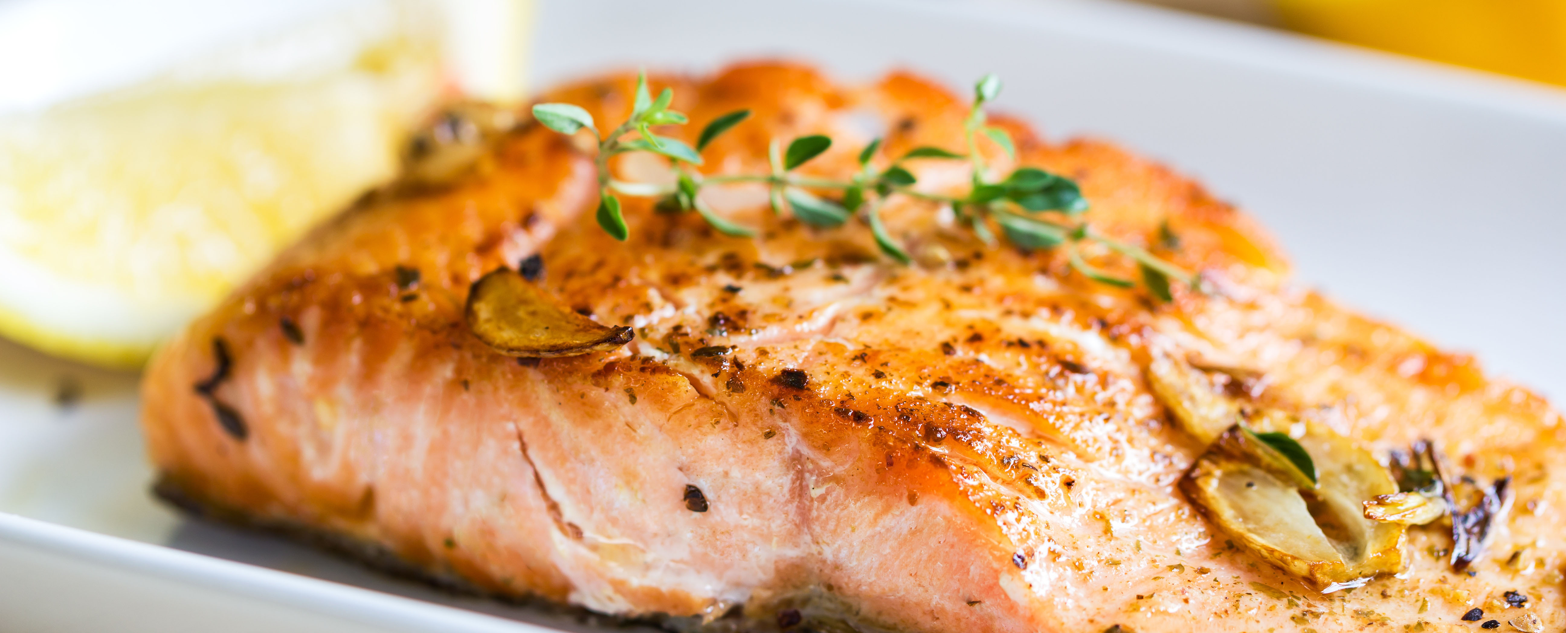 Garlic lemon baked salmon